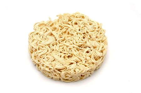 Isolated shot of instant noodle photo