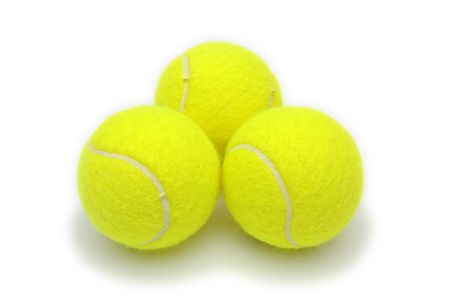 Tennis Balls Isolated Stock Photo