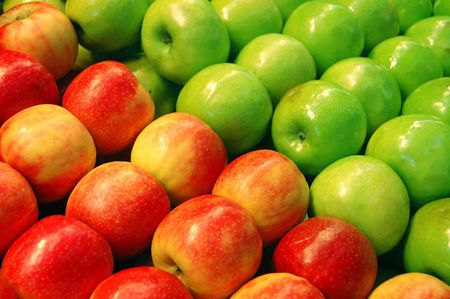 Fruits - Green and Red Apples