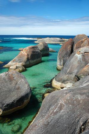 Elephant Rocks in Denmark Stock Photo