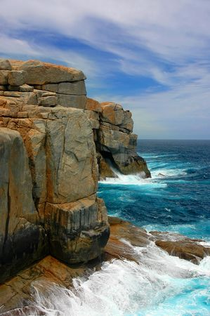 cliff face: Cliff Face at Albany, Australia Stock Photo