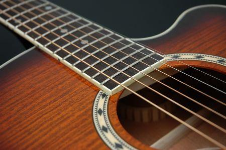 Closeup for guitar 2 Stock Photo