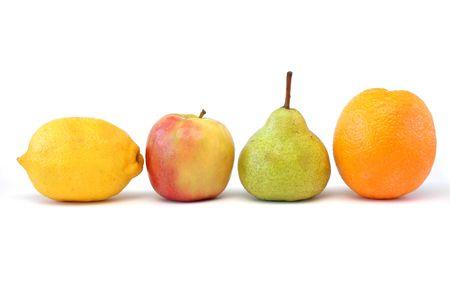 Lemon, Apple, Pear, Orange
