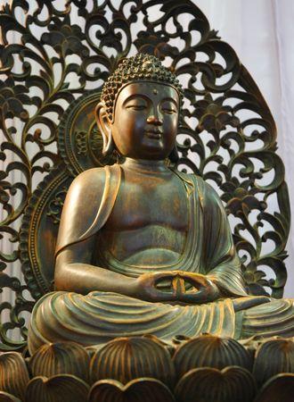 Brąz Buddy Statua Zdjęcie Seryjne
