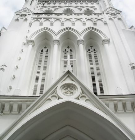 andrew: Entrance to St Andrew Cathedral, Singapore