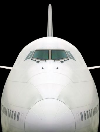 View of plane from front