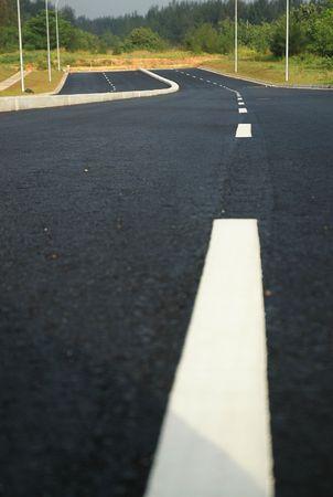 nowhere: Road to Nowhere - Portrait Stock Photo