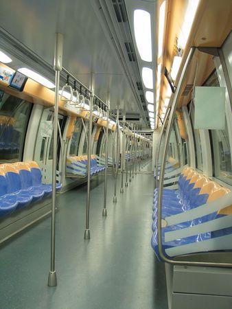 Wnętrze nowoczesnego pociągu