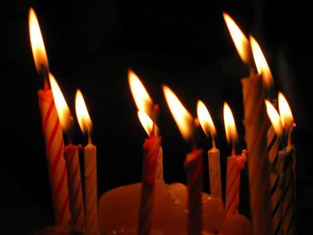 Closeup z Urodziny Świece Zdjęcie Seryjne