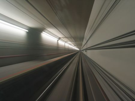View of a tunnel from a moving train Stock Photo - 351075
