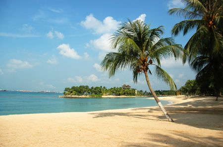 Plaża w Sentosa Zdjęcie Seryjne