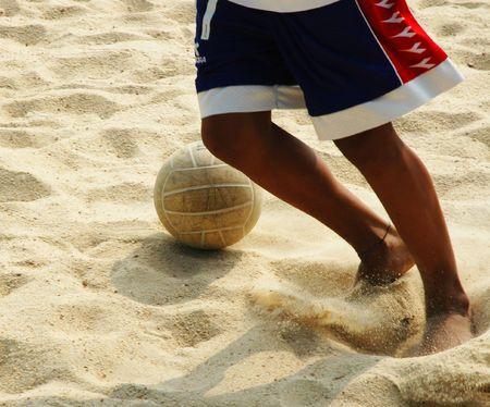 Sport - Beach Soccer Zdjęcie Seryjne