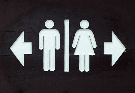 Toilet Direction Signboard Stock Photo - 350716
