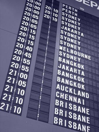Airport Related - Departure Board Reklamní fotografie