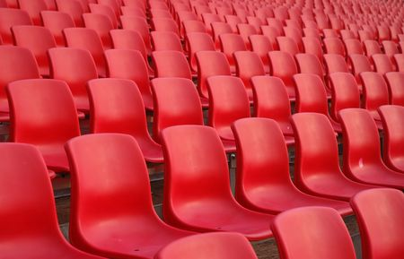 Rows of Red Color Seats Stock Photo - 350658