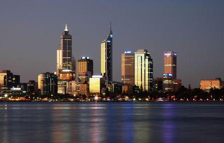 Miasto Skyline z Reflection