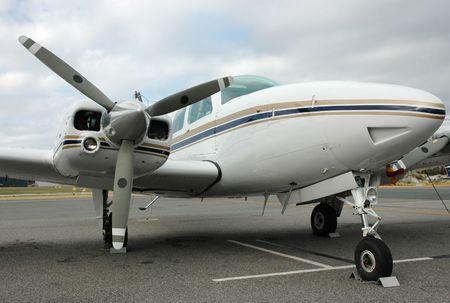 baron: Plane - 6 Seater Stock Photo