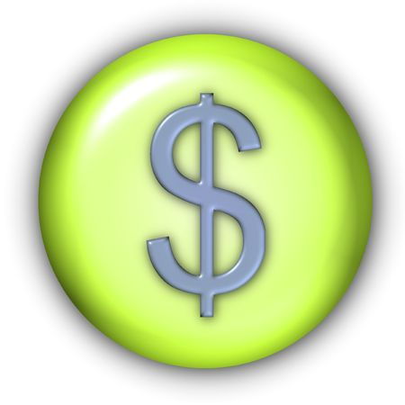 emboss: Round Currency Icon Series - Dollar