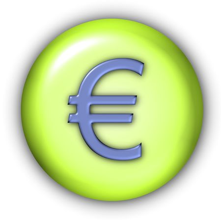 emboss: Round Currency Icon Series - Euro