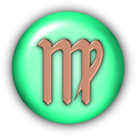 Horoscope Glyphs Button - Virgo (Include Clipping Path) photo
