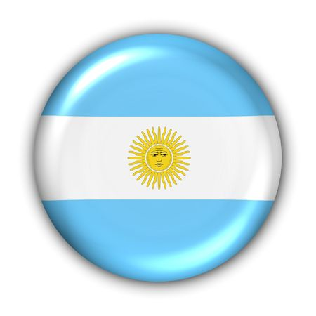 aires: World Flag Button Series - South America - Argentina (With Clipping Path) Stock Photo