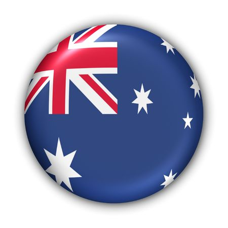 World Flag Button Series - Oceania - Australia (With Clipping Path)