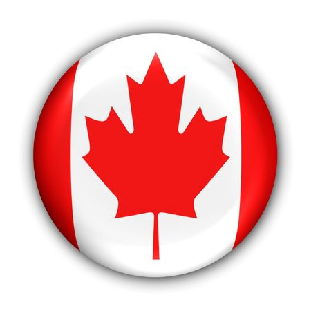 World Flag Button Series - North America- Canada (With Clipping Path) Banque d'images
