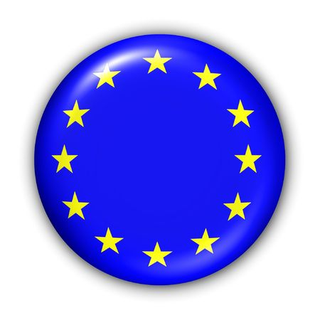 World Flag Button Series - European Union (With Clipping Path) photo