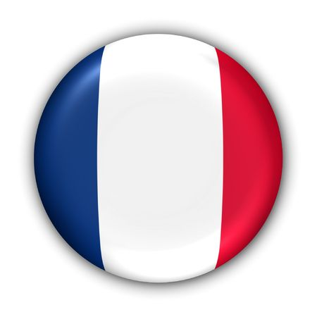 World Flag Button Series - Europe - France (With Clipping Path)