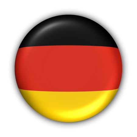 World Flag Button Series - Europe - Germany (With Clipping Path)