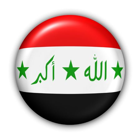 World Flag Button Series - Asia/Middle East - Iraq (With Clipping Path)