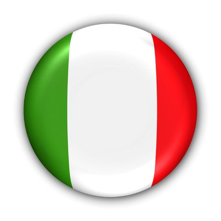 World Flag Button Series - Europe - Italy (With Clipping Path)