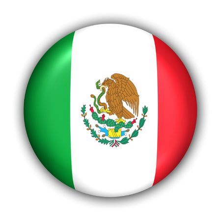 World Flag Button Series - North America - Mexico (With Clipping Path) Banque d'images