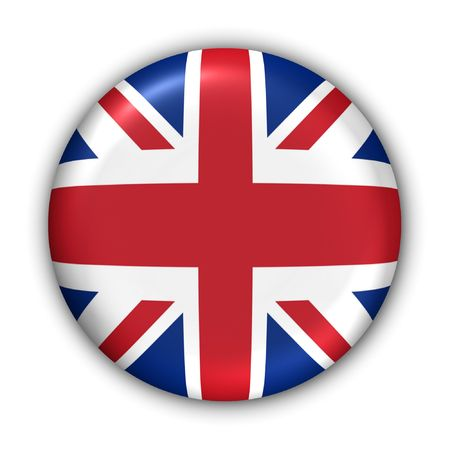 World Flag Button Series - Europe - United Kingdom (With Clipping Path) Stock Photo - 353775