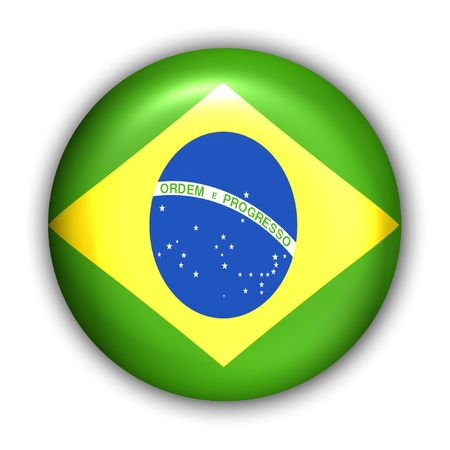 World Flag Button Series - South America- Brazil (With )