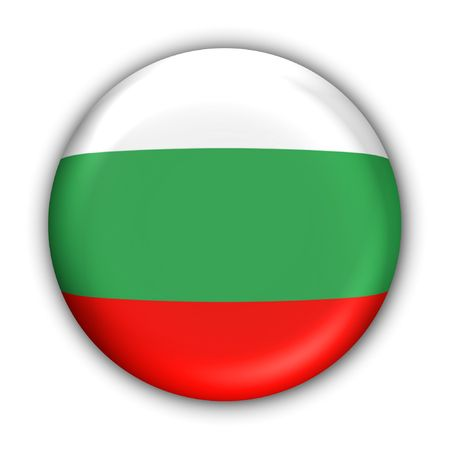 World Flag Button Series - Europe - Bulgaria (With )