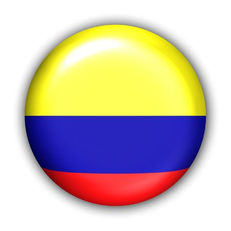 World Flag Button Series - South America - Colombia (With )