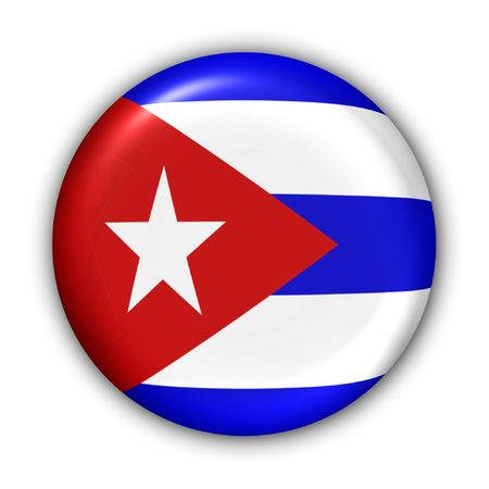 World Flag Button Series - Central America/Caribbean - Cuban (With ) Banque d'images
