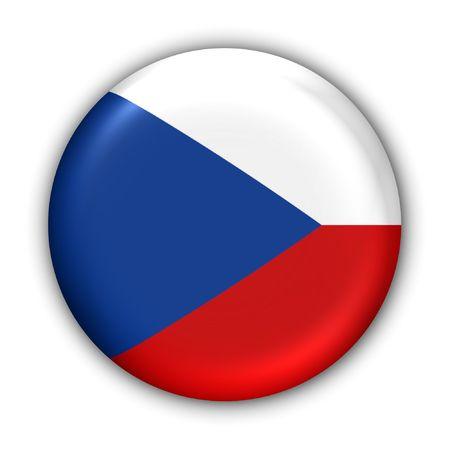 czech: World Flag Button Series - Europe - Czech Republic(With ) Stock Photo