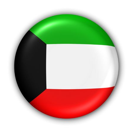 World Flag Button Series - AsiaMiddle East - Kuwait (With ) photo
