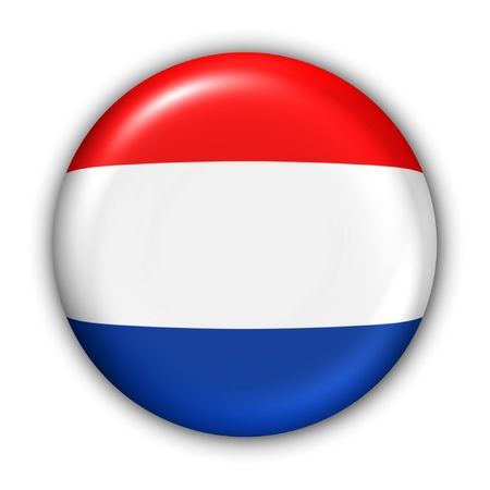 World Flag Button Series - Europe - Netherland(With )