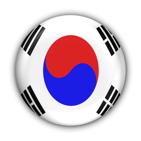 World Flag Button Series - Asia - S Korea (With )