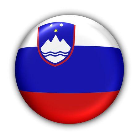 yugoslavia: World Flag Button Series - Europe - Slovenia (With )