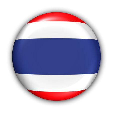 World Flag Button Series - Asia - Thailand (With ) Banque d'images