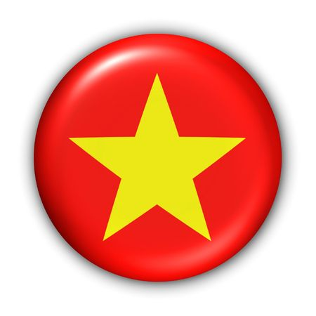 World Flag Button Series - Asia - Vietnam (With )