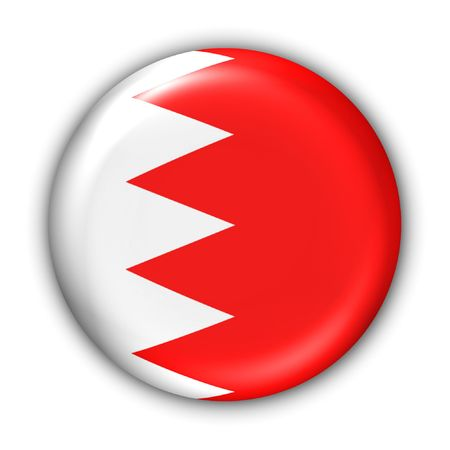 bahrain: World Flag Button Series - AsiaMiddle East - Bahrain (With Clipping Path)