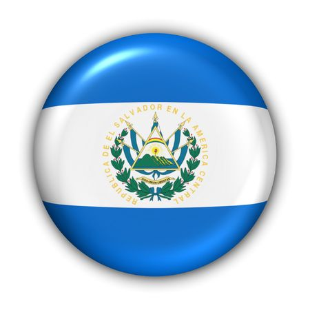 World Flag Button Series - Central AmericaCaribbean - El Salvador (With Clipping Path) photo