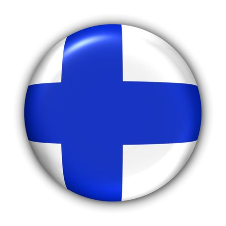 World Flag Button Series - Europe - Finland(With Clipping Path) Banque d'images