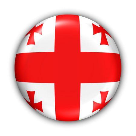 World Flag Button Series - Asia - Georgia (With Clipping Path) Stock Photo - 374007