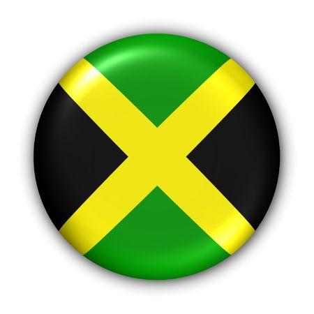 Świat Zgłoś Button Series - Ameryka Środkowa  Karaiby - Jamajka (Z Clipping Path) Zdjęcie Seryjne